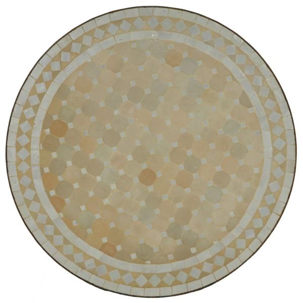 Mosaiktisch D60 Weiss/Raute