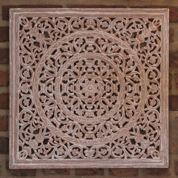 Indisches Holz Mandala Maher