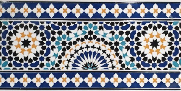Orientalische Fliesen-Bordüre aus Marokko Ifran