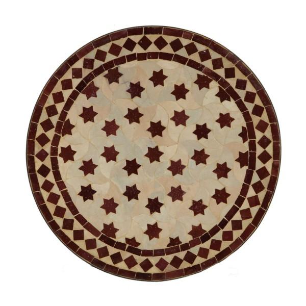 Mosaiktisch aus Marokko - Rund -M60-27