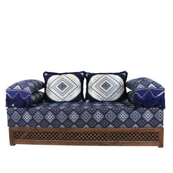 Orientalisches Sofa Oman Blau 25 - Gestell