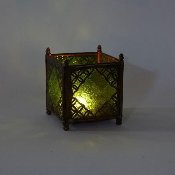 Orient Glas-Windlicht Grün