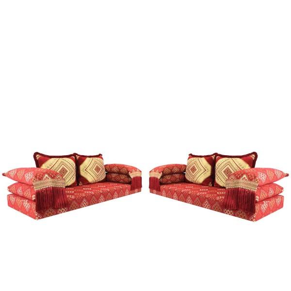 Orientalische Sitzecke Oman Rot 15 Set