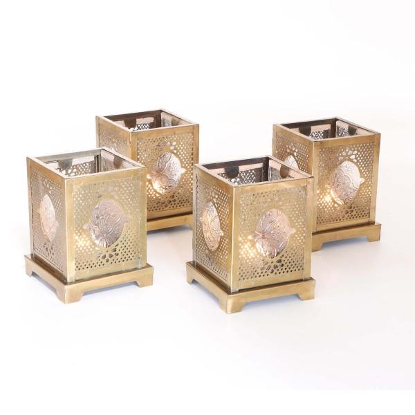 Orientalische Glas-Windlichter Mahir 4er Set