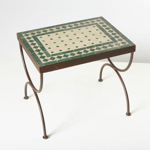 Mosaik-Beistelltisch L39 Grün/Terracotta