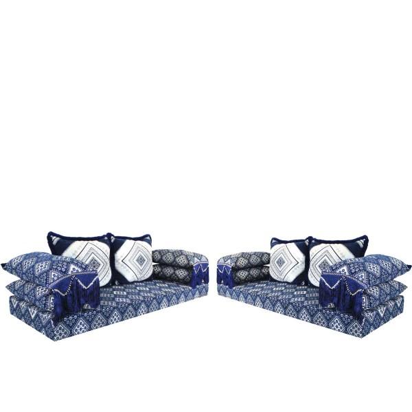 Orientalische Sitzecke Oman Blau 15 Set