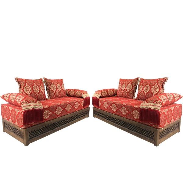 Orientalische Sitzecke Salma rot 25 - Gestell - Set