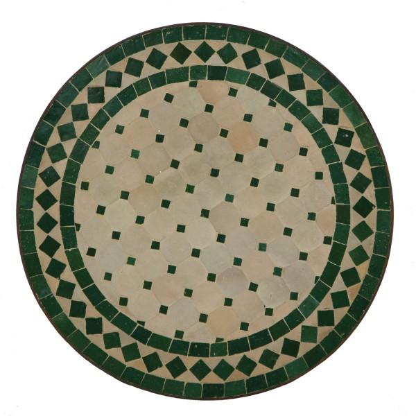 Mosaik-Beistelltisch Ø45 cm Grün-Raute