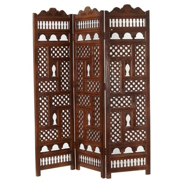 Marokkanischer Holz Paravent Mayla