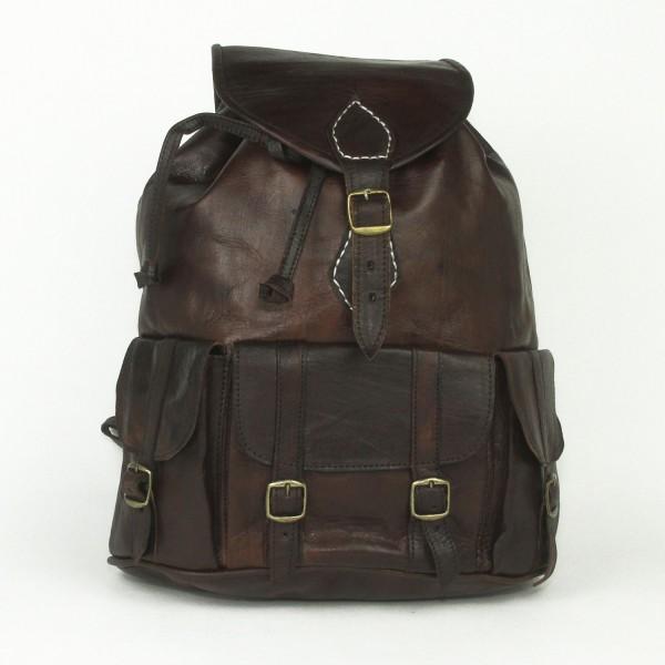 Leder Rucksack aus Marokko
