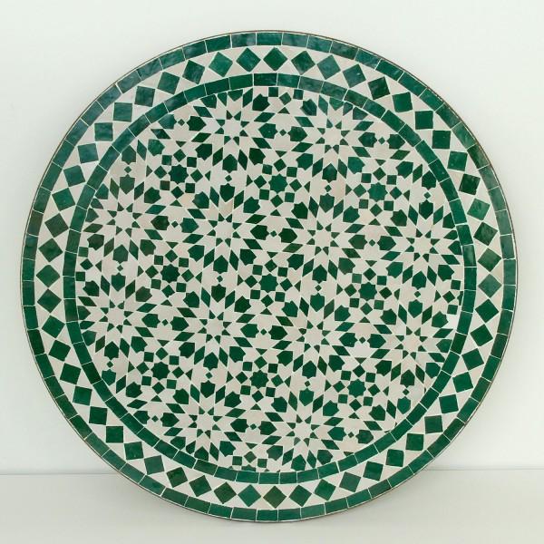 Mosaik Bistrotisch Rund 70 cm Ankabut-Weiß