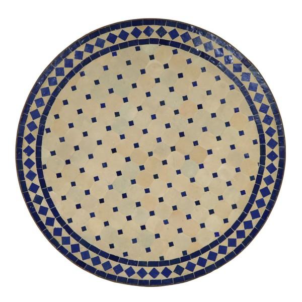 Mosaiktisch D80 Blau/Raute