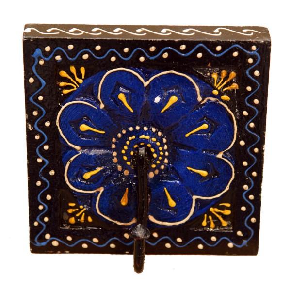 Orientalischer Kleiderhaken Kadira Schwarz-Blau