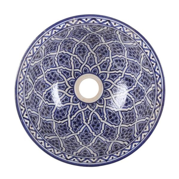 Orientalisches handbemaltes Keramik Waschbecken Fes112
