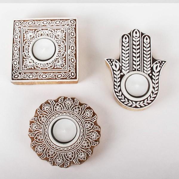 Orientalische Teelichthalter Sahra 3er Set