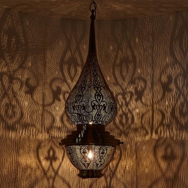 Messinglampe Wijdan