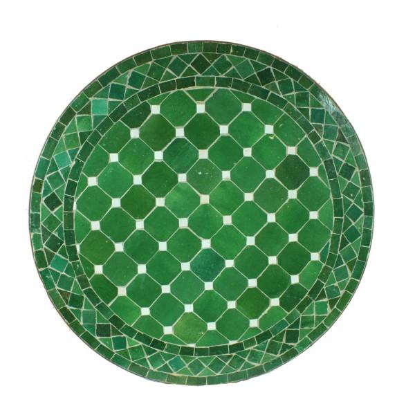 Mosaiktisch Rund D60 Grün/Glasiert