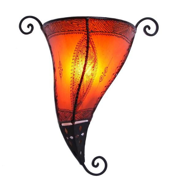Orientalische Wandlampe Mina Orange