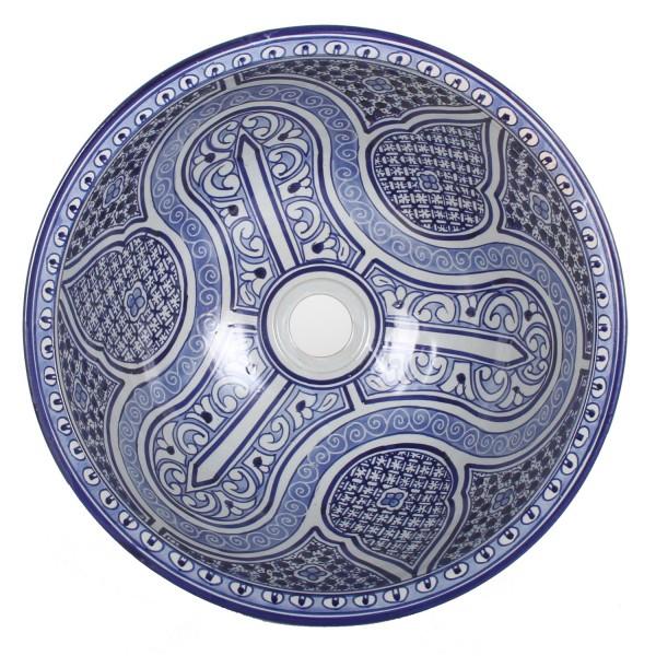 Orientalisches Handbemaltes Keramik Waschbecken Fes100