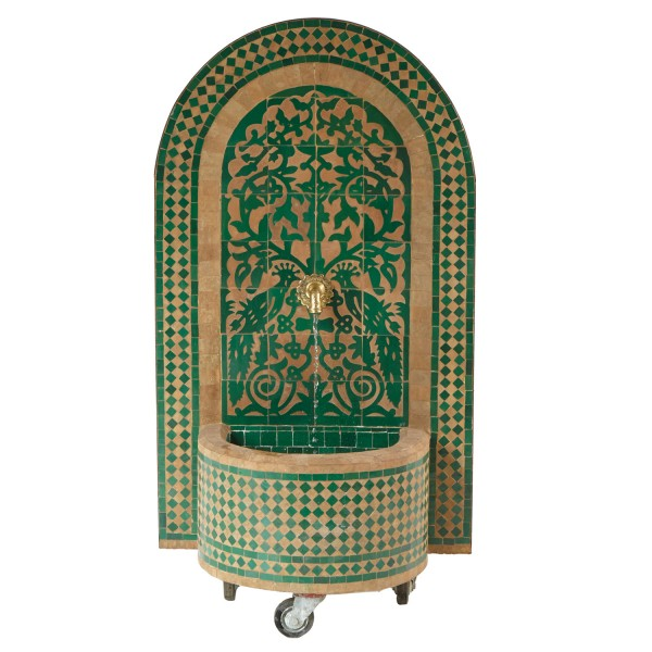 Mosaik- Brunnen Tawus Grün