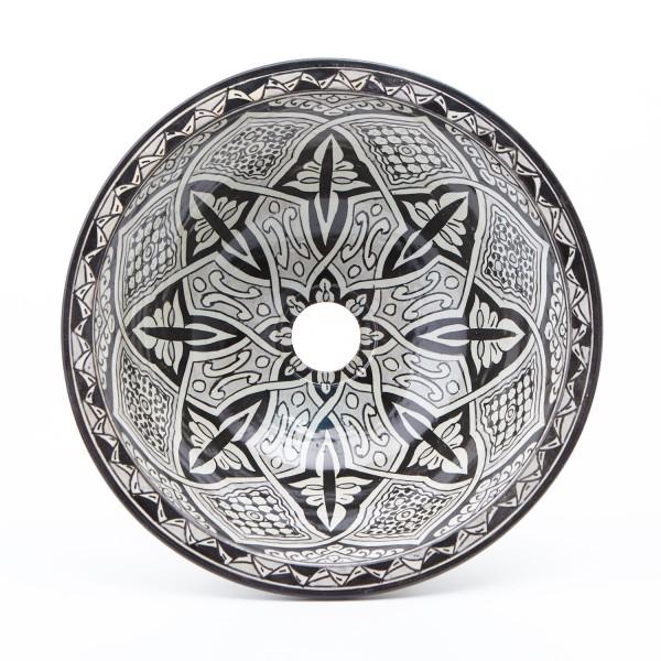 Orientalisches Handbemaltes Keramik-Waschbecken Fes76