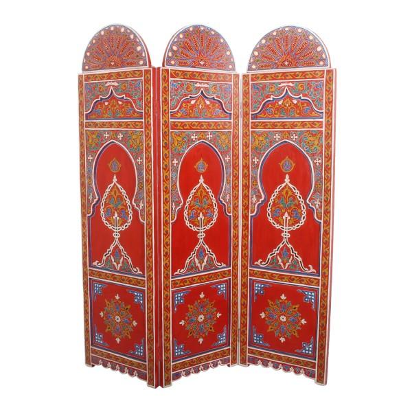 Marokkanischer Holz Paravent Zada