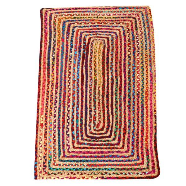 Jute Teppich Esha bunt 60x110 cm