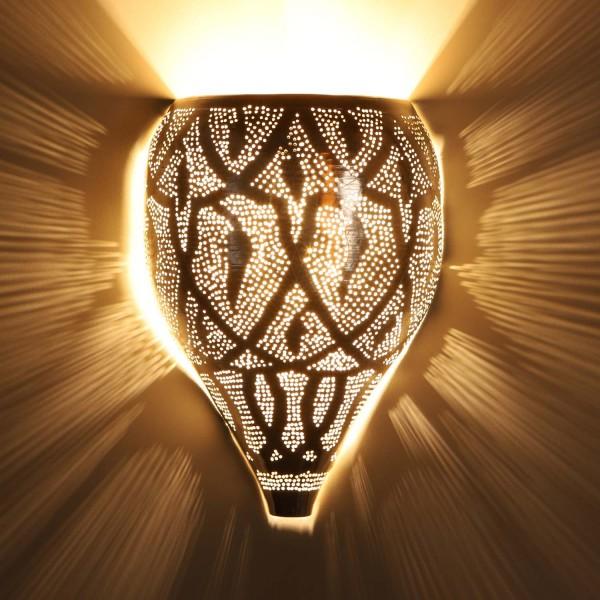 Marokkanische Silber-Wandlampe Faruk