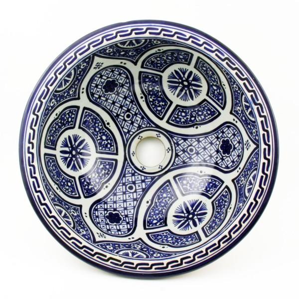 Orientalisches-Handbemaltes-Keramik-Waschbecken Fes37