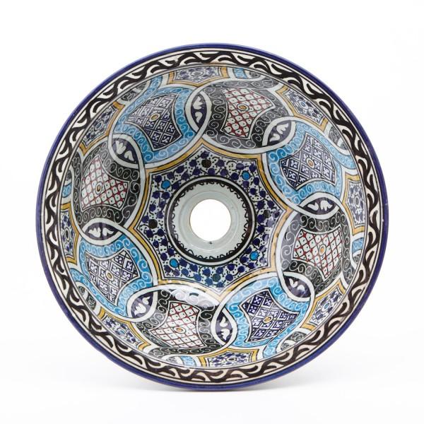 Orientalisches-Handbemaltes-Keramik-Waschbecken Fes83