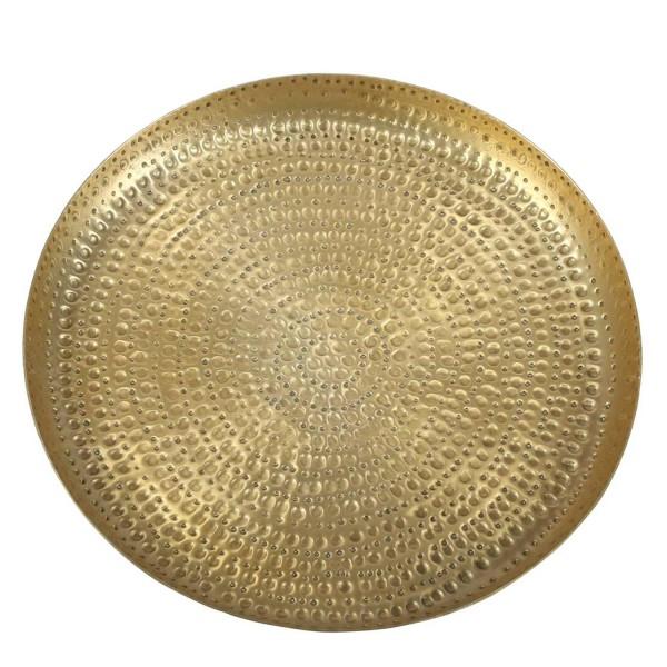 Tabeltt Gold mit Hammerschlag Zana Mittel 33cm