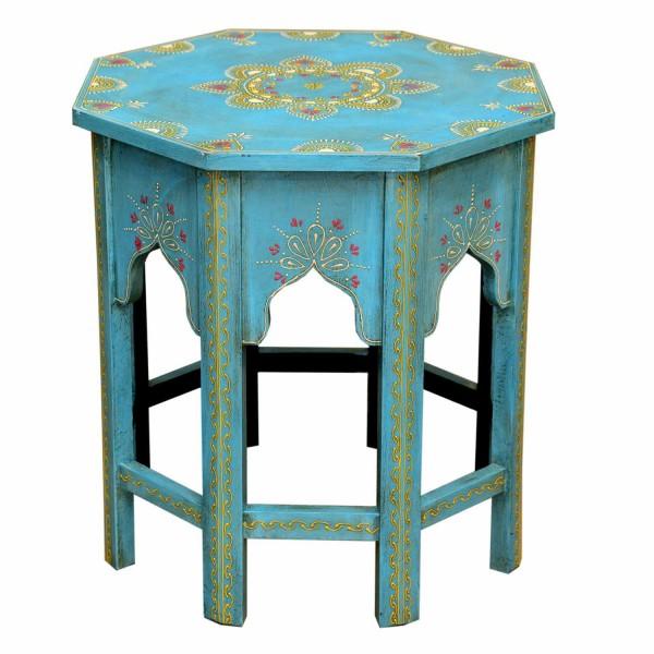 Orientalischer Beistelltisch Saada Blau M