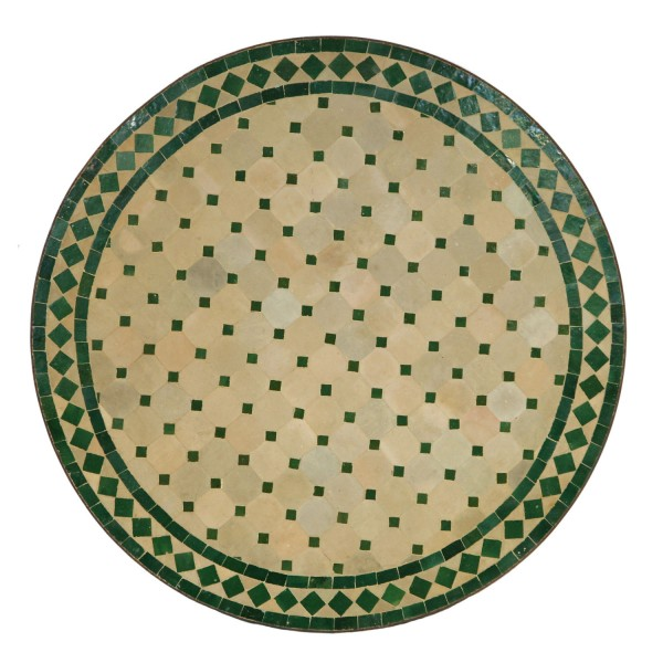 Mosaiktisch D80 Grün-Raute