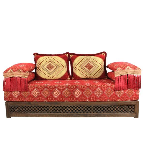 Orientalisches Sofa Oman Rot 25 - Gestell