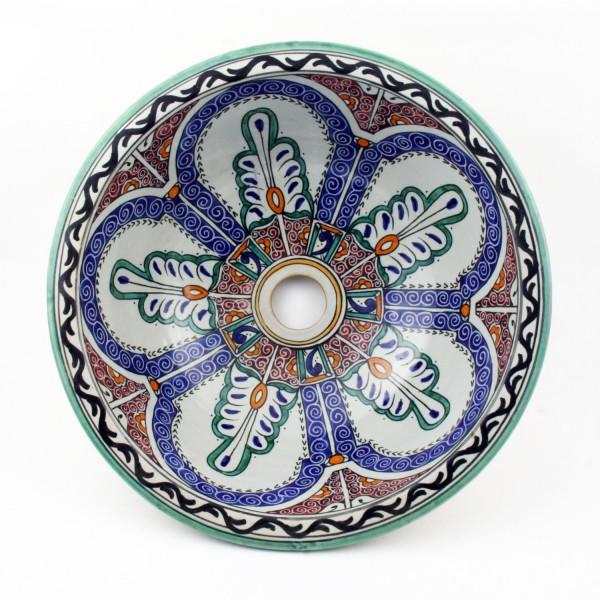 Orientalisches-Handbemaltes-Keramik-Waschbecken Fes126