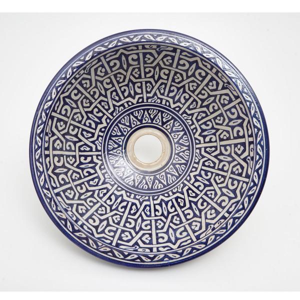 Orientalisches-Handbemaltes-Keramik-Waschbecken Fes86