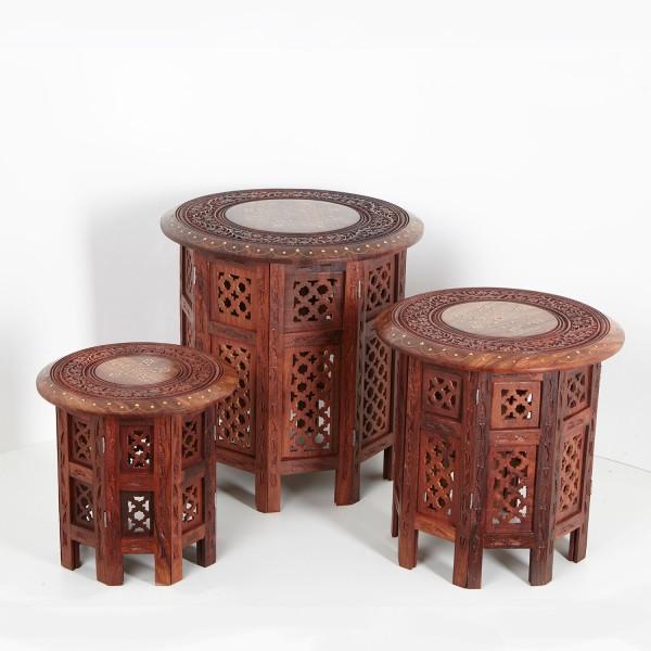 Orientalische Beistelltische Nail 3er-Set