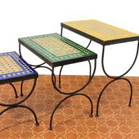 Mosaik-Beistelltische
