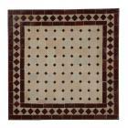 Couch-Mosaiktisch 60x60 Bordeaux-Raute