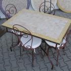 Mosaik-Esstisch 120x80 Gelb/Raute