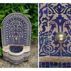 Marokko-Mosaikbrunnen Asfor Blau