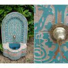 Marokko-Mosaikbrunnen Asfor Hell-Blau