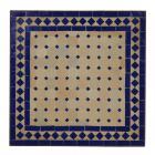 Mosaiktisch 80x80 cm Blau/Raute