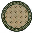 Mosaiktisch D100 Grün/Raute