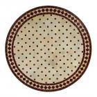 Mosaiktisch D80 Bordeaux/Raute