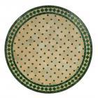 Mosaiktisch D90 Grün/Raute