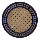 Mosaik-Beistelltisch Ø45 cm Blau-Raute