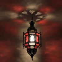 Hängeleuchte Alexandria Rot/Weiß