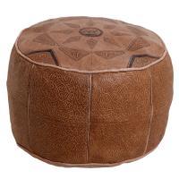 Arabisches Leder-Sitzkissen Kamel