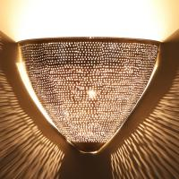Marokkanische Silber-Wandlampe Damla